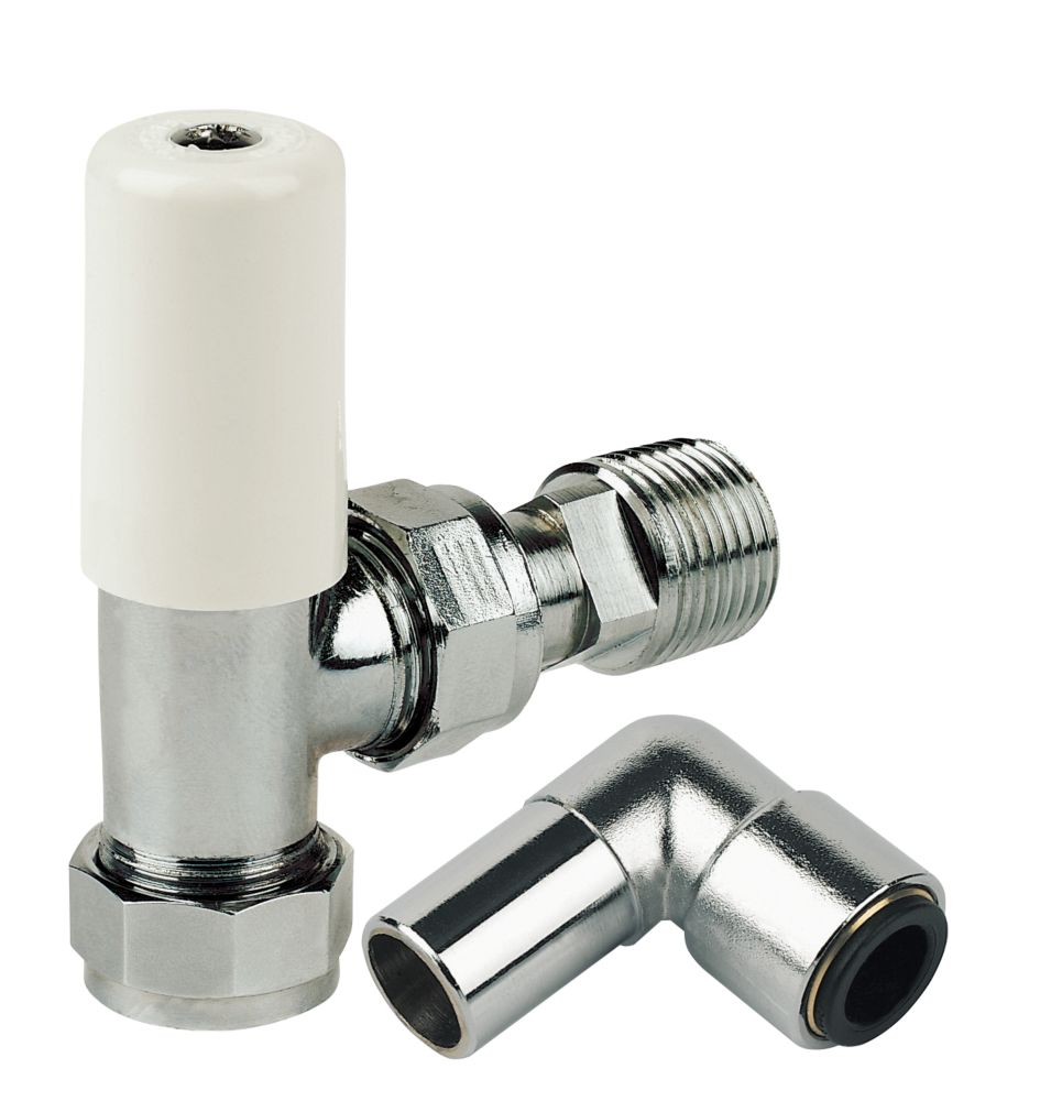 Terrier Push-Fit Lockshield Radiator Valve 10mm