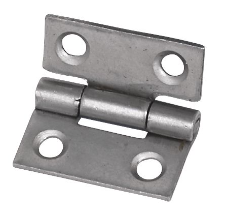 Steel Fixed Pin Hinges Self Colour 25 x 22 x 1mm Pack of 20