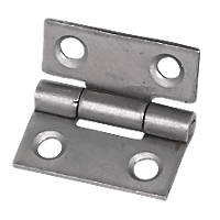 Steel Fixed Pin Hinges Self-Colour 25 x 22mm 20 Pack