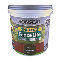 Ronseal One Coat Fence Life Forest Green 9Ltr