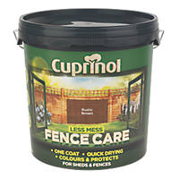 Cuprinol Less Mess Fence Care Rich Rustic Brown 9Ltr