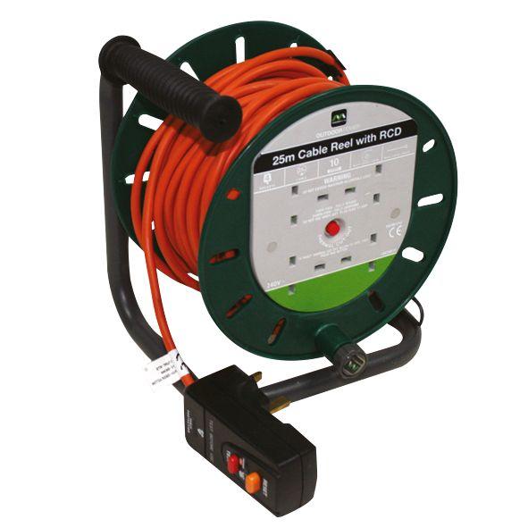 Masterplug Cable Reel & RCD 4G 240V 25m