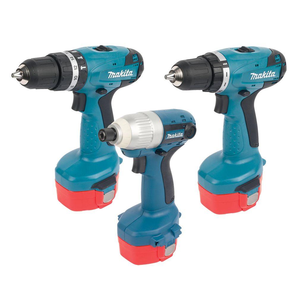 Makita 6281DP3-TP 14.4V Drill Driver & Combi Drill & Impact Driver Kit