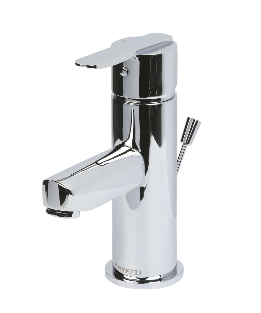 Moretti Avanti Bathroom Basin Mono Mixer Tap with Pop-Up Waste