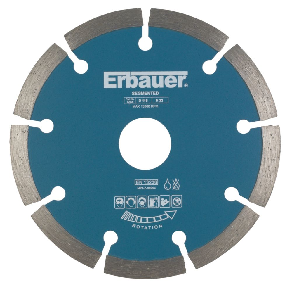 Erbauer Sintered Diamond Blade Segmented 115 x 22.23mm
