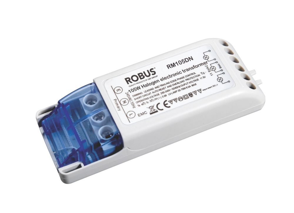 Robus RM105D 35-105W Electronic Transformer 240V