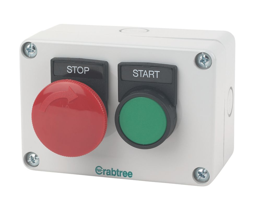 Crabtree 2-Way A-Lock Mushroom Head Start Push Button