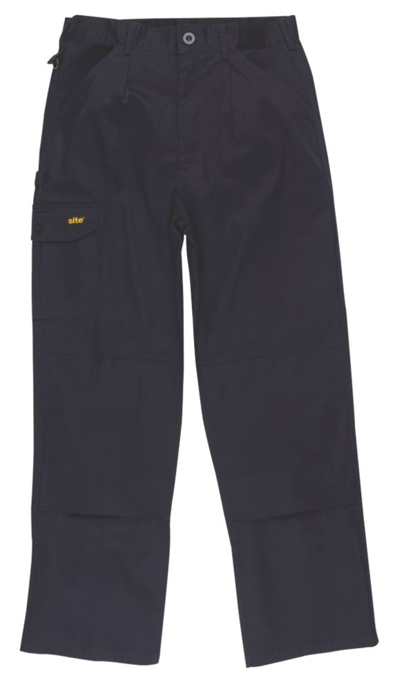"Site Collie Cargo Trousers Navy W 40"" L 31"""