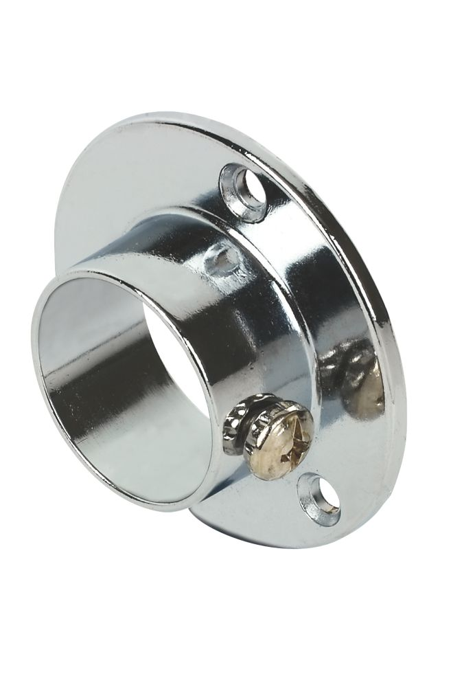 Round End Sockets Polished Chrome 25mm Pack of 8