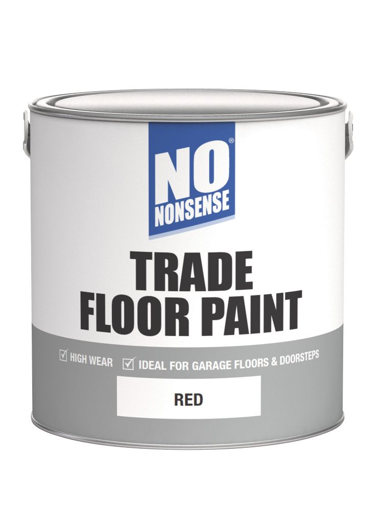 No Nonsense Floor Paint Red 2.5Ltr