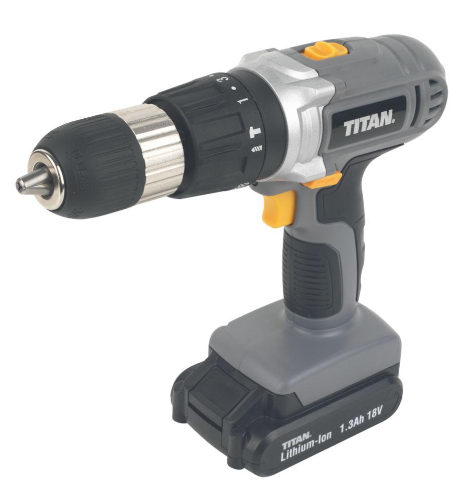 Titan CDI218KL 18V 1.3Ah Li-Ion Cordless Combi Drill