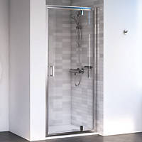 Aqualux Shine 6 Pivot Shower Door Polished Silver 800 x 1900mm