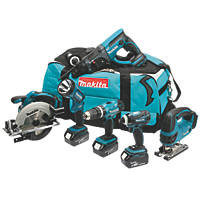 Makita DLX6017PM 18V 4.0Ah LI-Ion 6 Piece Cordless Power Tool Kit