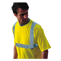 "Dickies N/A Hi-Vis Safety T-Shirt Saturn Yellow X Large 50"" Chest"