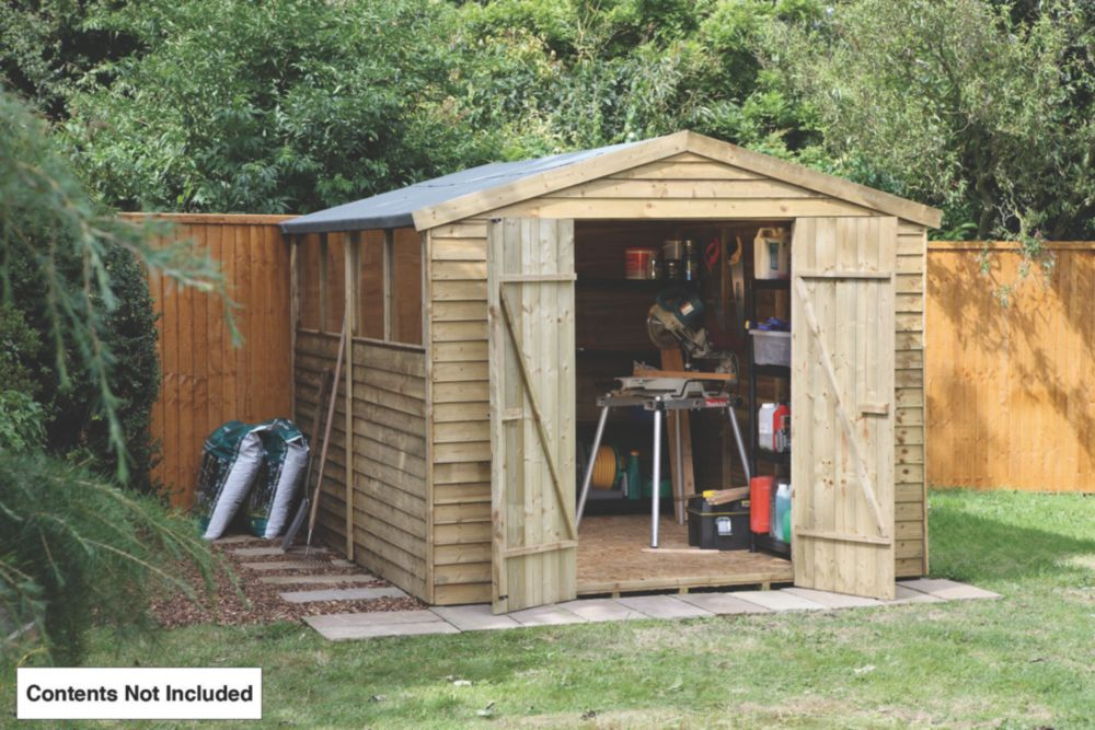 Forest Larchlap Overlap Apex Shed 8 x 10 x 7' (Nominal)