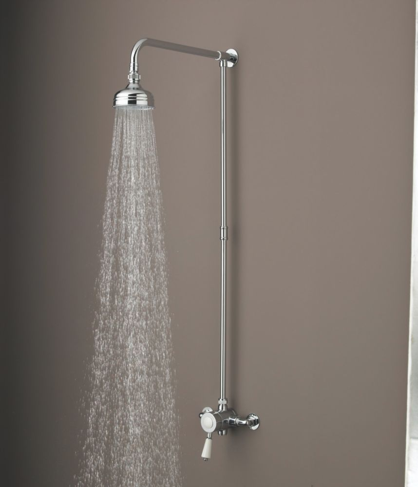 Bristan Colonial Thermostatic Mixer Shower Fixed Exposed Chrome