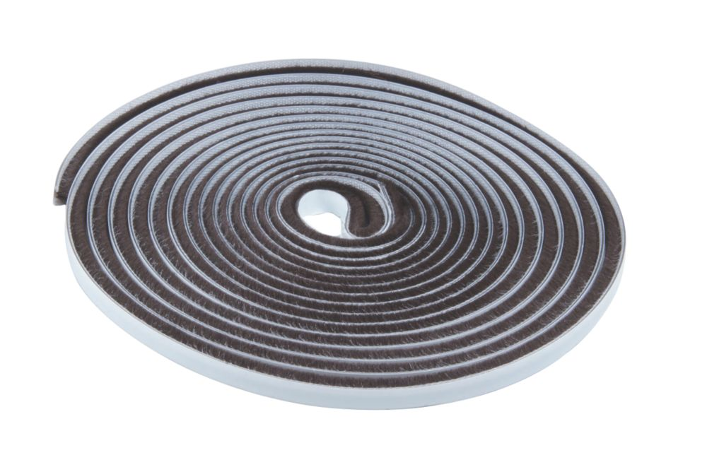 Brush Pile Self-Adhesive Weatherstrip Brown 7mm x 15m