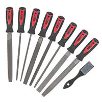 "Forge Steel File & Rasp Set 8"" 9 Pieces"