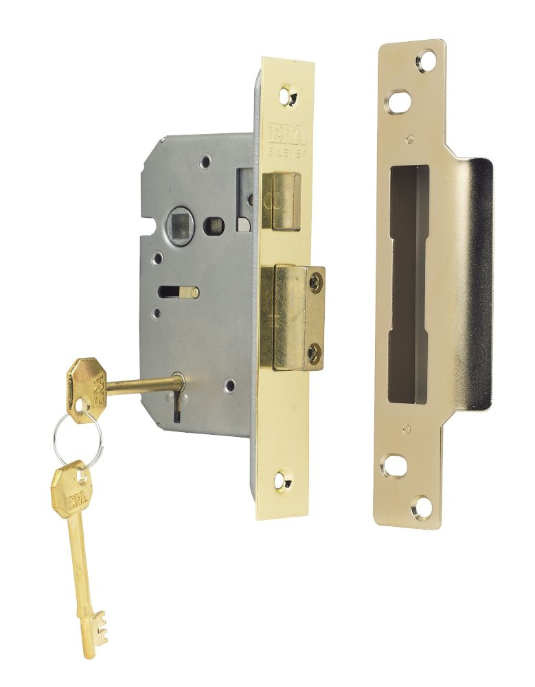 ERA 5-Lever Mortice Sashlock Steel Brass 2½ (64mm)