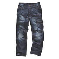"""Scruffs Trade Denim Jeans Blue 34"""" W 32"""" L"""