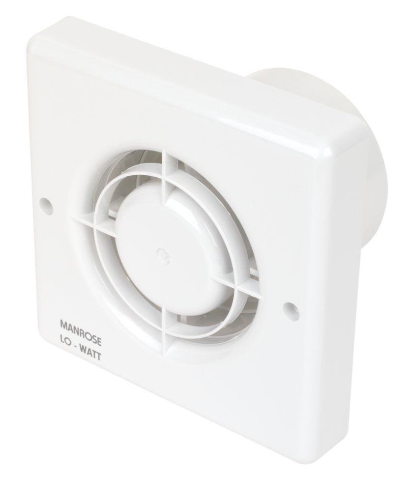 Manrose LoWatt Axial Bathroom Extractor Fan with Timer & Humidistat