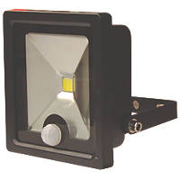 LAP  LED Slimline Floodlight with PIR Black 10W