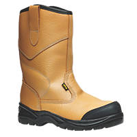 Site Gravel Rigger Safety Boots Tan Size 6