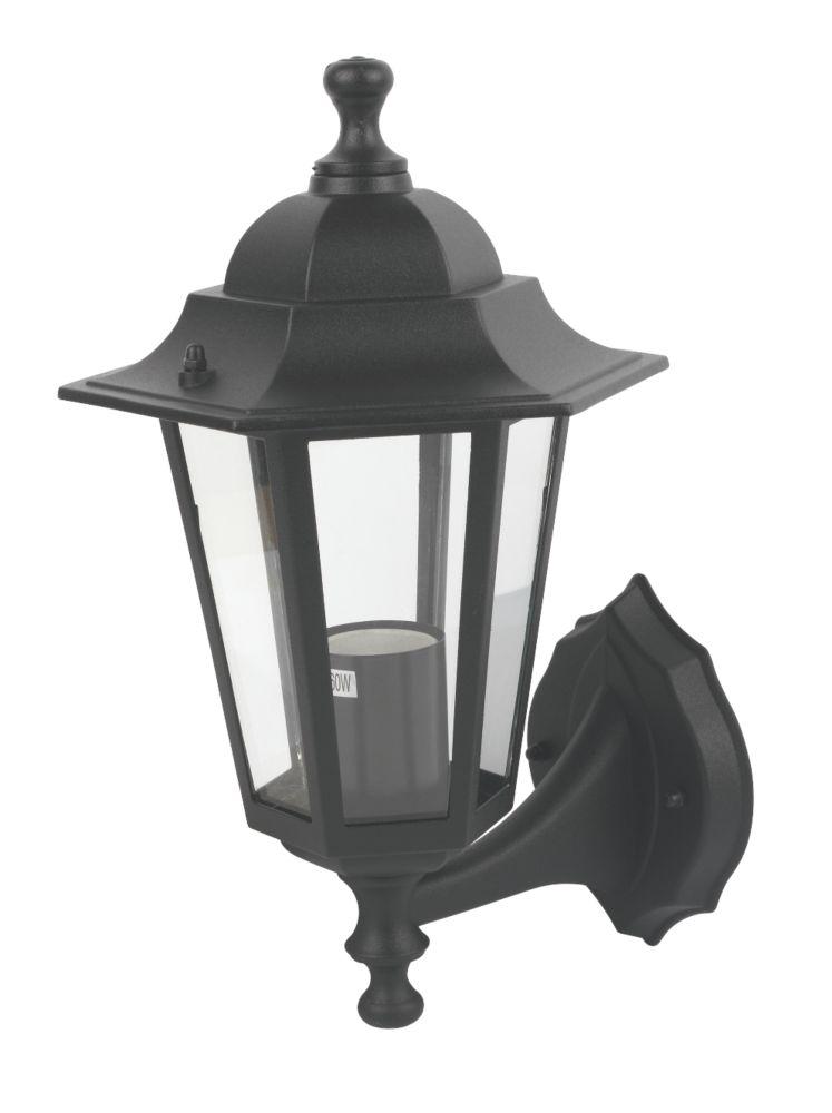 Coach 60W Black Lantern Wall Light