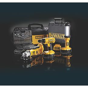 DeWalt DC729PB-GB 18V Drill Driver, Angle Grinder & Torch Triple Pack