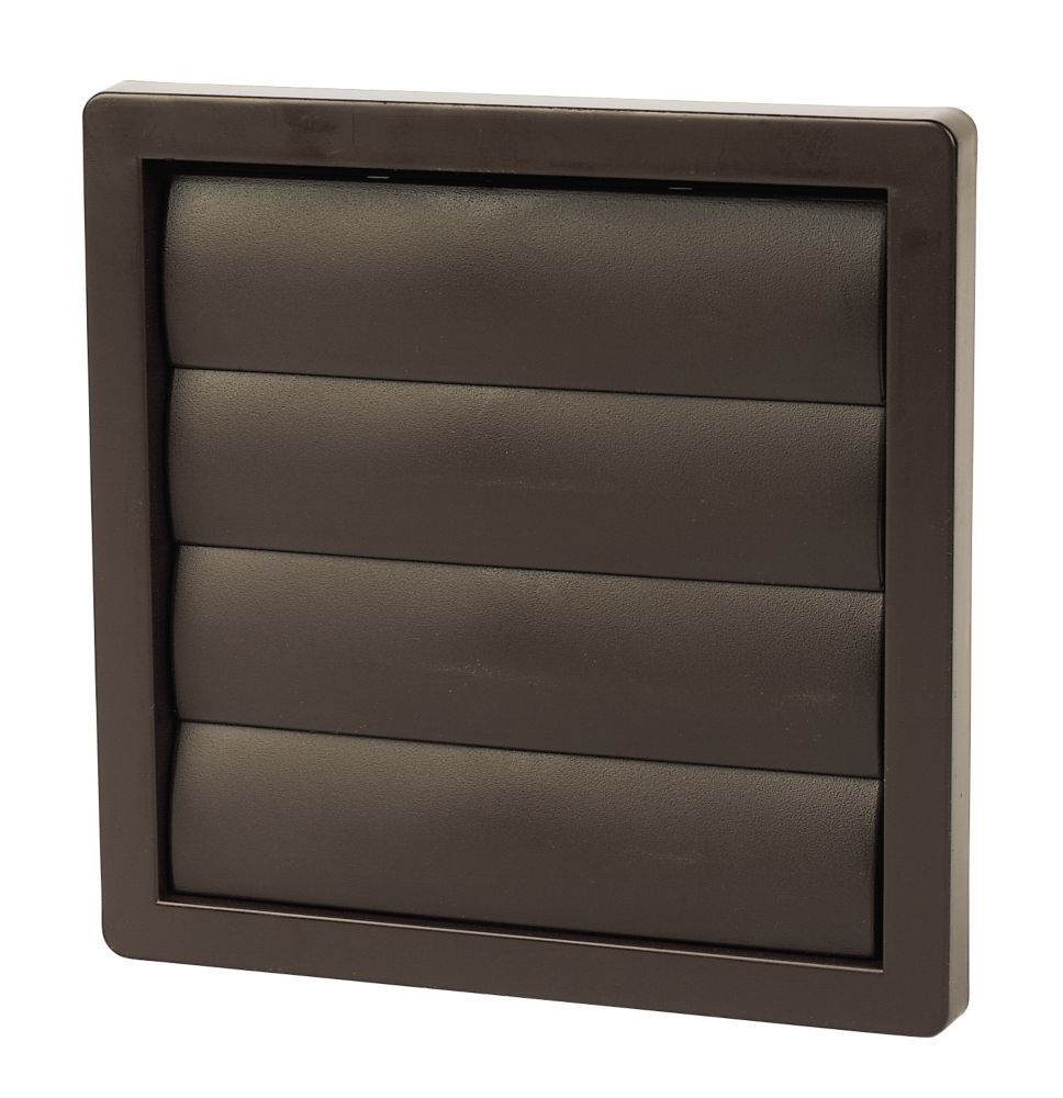 Manrose Flap Vent Brown 160mm x 160mm