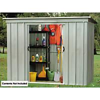 Yardmaster Sliding Door Pent Store Metal 8 x 4'