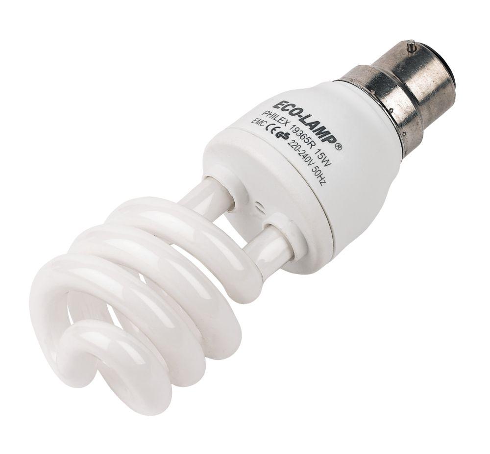 Spiral Energy Saving BC 15w CFL