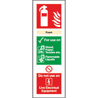 Foam Extinguisher ID Signs 280 x 90mm 100 Pack