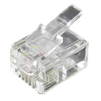 Philex RJ11 6P4C Connectors Pack of 100
