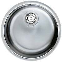 Astracast Onyx Flush Round Sink Stainless Steel 1 Bowl 430 x 430mm