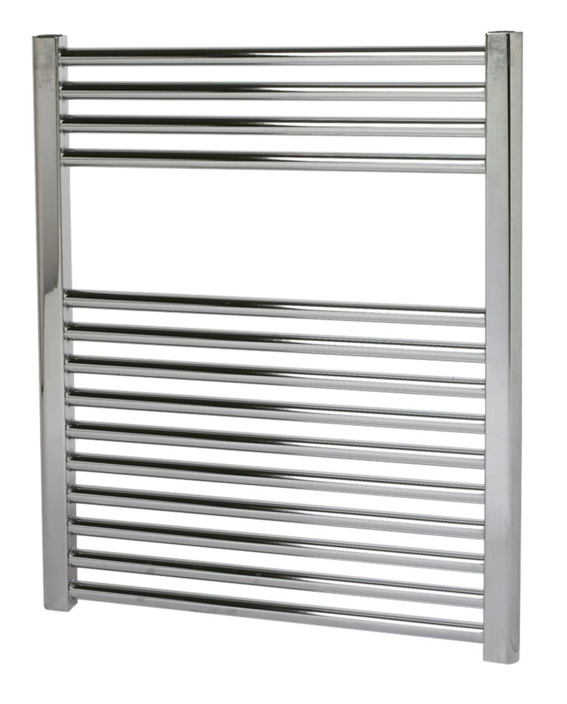 Kudox Flat Towel Radiator Chrome 700 x 600mm 261W 891Btu