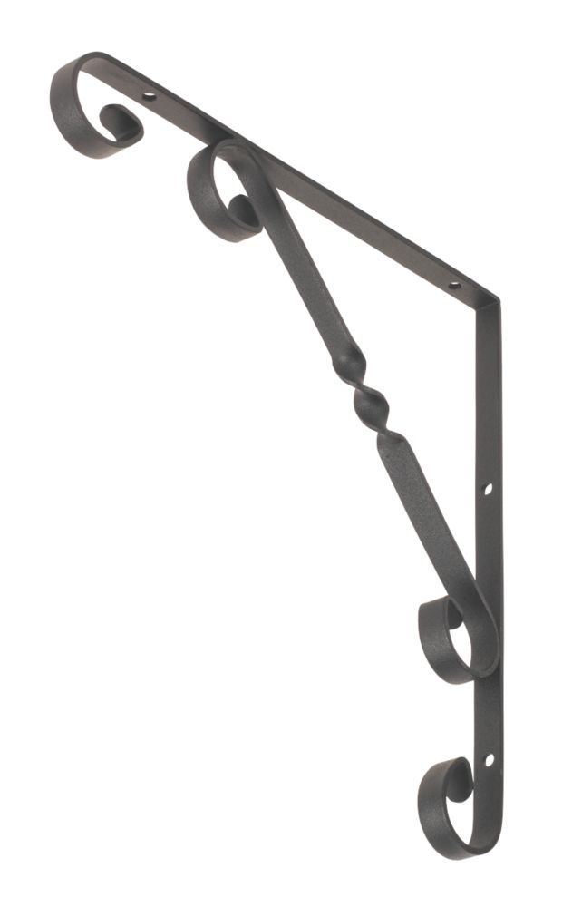 Decorative Stay Brackets Black 250 x 250mm Pack of 2