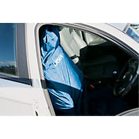 Laser Vehicle Protective Front Seat Cover Blue