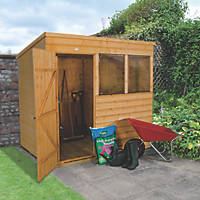 Forest 7' x 5' (Nominal) Pent Shiplap Timber Shed with Base