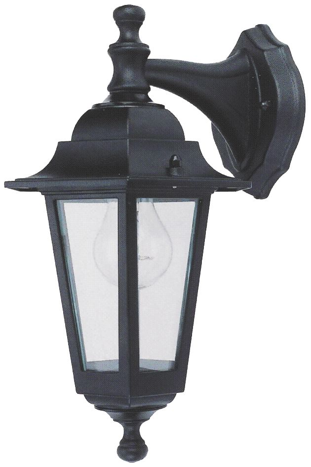 Coach Hanging 60W Black Lantern Wall Light