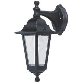coach 60w black hanging lantern wall light outdoor wall. Black Bedroom Furniture Sets. Home Design Ideas