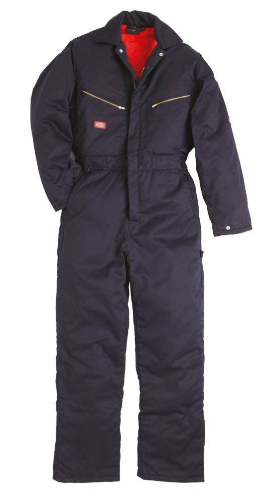 """Dickies Padded Coverall Navy Large 44-46"""" Chest 32"""" L"""