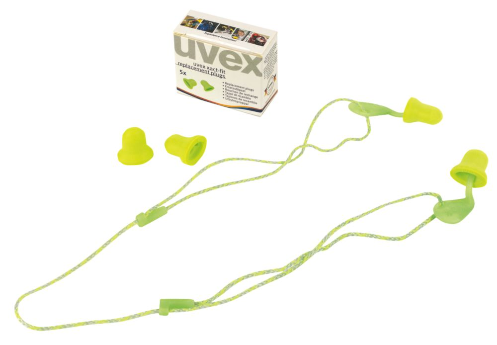 Uvex? Xact-Fit 26dB Corded Plugs 5 Pairs