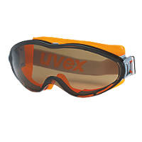 Uvex Ultrasonic Brown Lens Safety Goggles