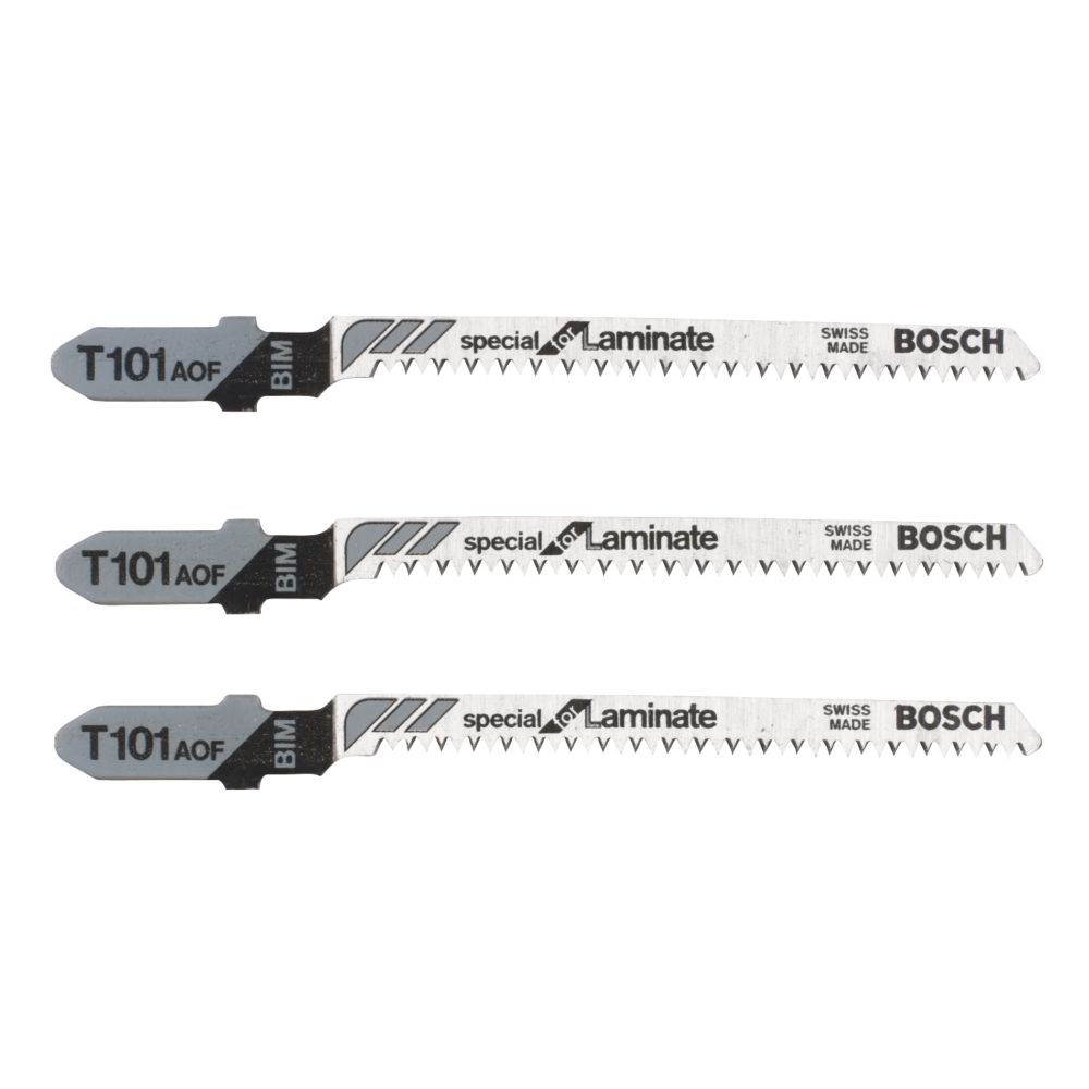 Bosch Laminate Jigsaw Blades Bayonet T101AOF Pack of 3