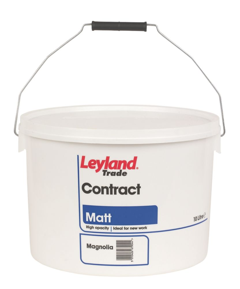 Leyland Contract Matt Emulsion Paint Magnolia 10Ltr