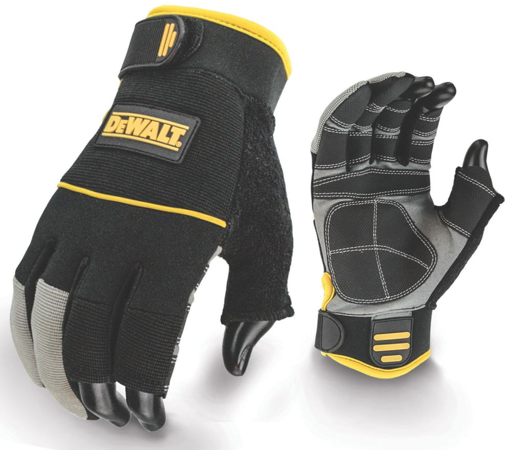 DeWalt Specialist Handling 3-Finger Framers Gloves Yellow Large