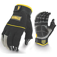 DeWalt DPG24L EU 3-Finger Framers Gloves Black / Yellow Large