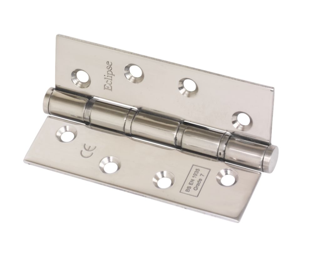 Washered Fire Hinge Grade 7 Polished Stainless Steel 102 x 67mm Pack of 2