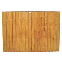 Forest Feather Edge Fence Panels 1.8 x 1.2m 3 Pack